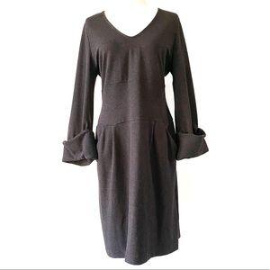 Gender Bias Gray Dress Workwear Cuffed Stretch L